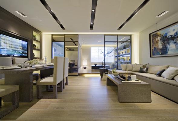 三居室 82㎡ 客厅装修效果图 台湾禅意居宅